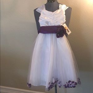 NWT Beautiful  flower girl dress